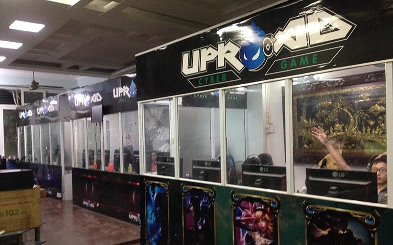 Không gian các phòng máy UpRoad Cyber Game - Chuỗi Cyber Game