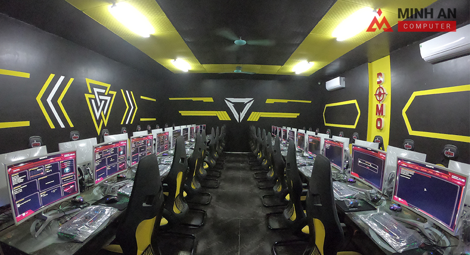 Phòng máy hiện đại của Dự án Domo Gaming tại Gia Lâm