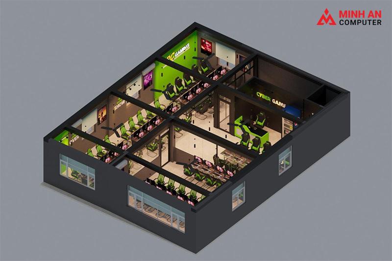 Thiết kế phòng net