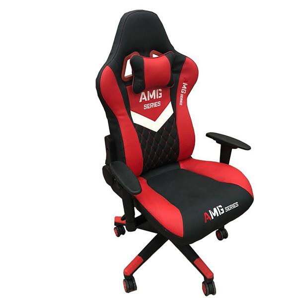 Ghế Gaming AMG chân xoay màu đỏ đen ảnh 1