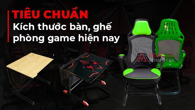 Tiêu chuẩn kích thước bàn ghế phòng game hiện nay