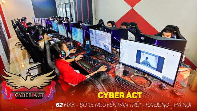 Lắp đặt phòng net 62 máy - Cyber ACT tại Hà Nội